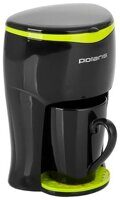 Кофеварка POLARIS PCM 0109, black/lime