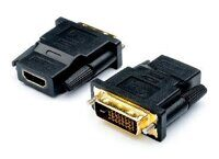 Переходник ATCOM (АТ1208) DVI(male) - HDMI(female), black