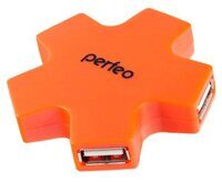 Концентратор-HUB PERFEO PF-HYD-6098H 4-USB, orange
