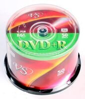 Диск DVD+R VS 4.7GB 16x CAKE (50)
